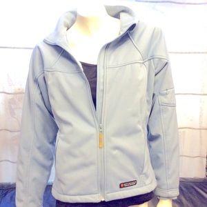 Misty Mountain blue-grey zip up activewear jacket